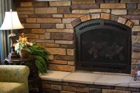 1 of 2 Fireplace