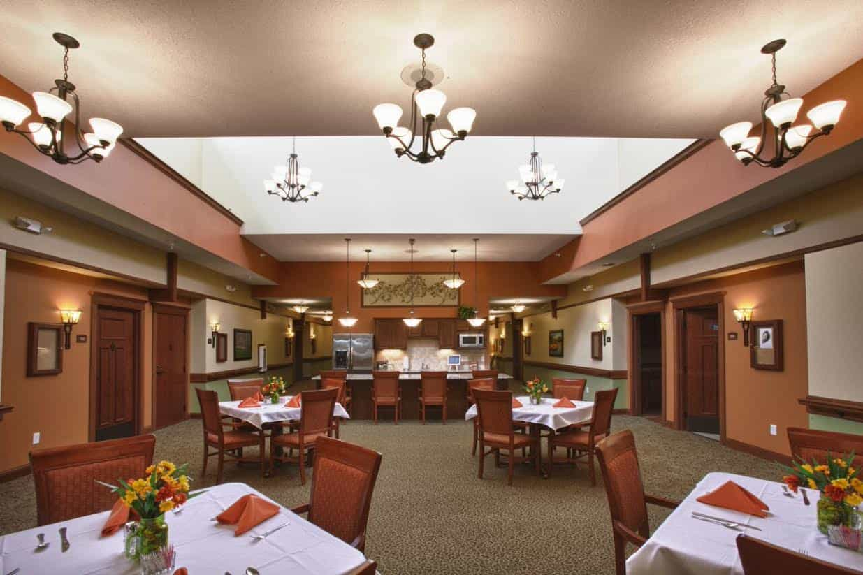 Memory Care Dining Area